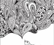 Coloring pages Zen Relaxing in black