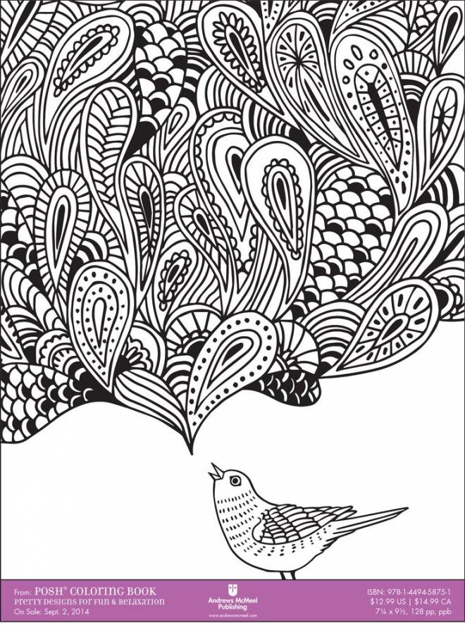 Free coloring and drawings Zen Relaxing in black Coloring page