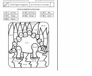 Coloring pages Addition magic dinosaur
