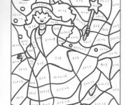 Coloring pages magic witch in color