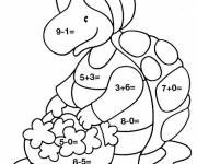 Coloring pages Magical Child Subtraction