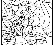 Coloring pages Squirrel magic addition