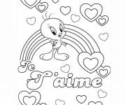 Coloring pages Disney Love