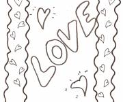 Coloring pages Easy love drawing