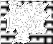 Coloring pages Graffiti I Love You