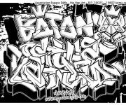 Coloring pages Graffiti Love Art