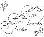 Coloring pages I Love You in Heart