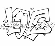 Coloring pages Love Graffiti