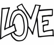 Coloring pages Love vector