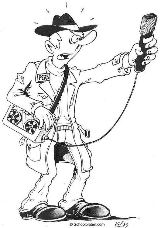 Free coloring and drawings A journalist Coloring page