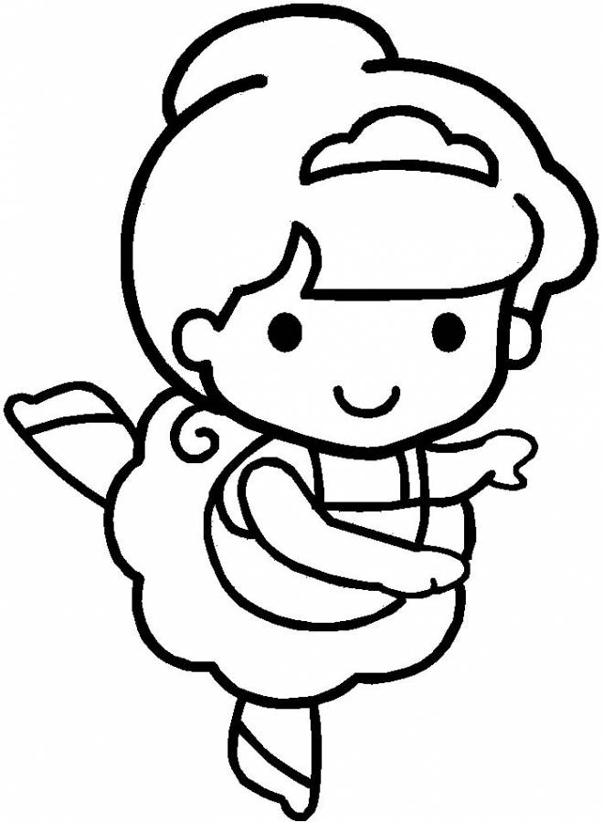 Free coloring and drawings A Little Ballet Dancer Coloring page