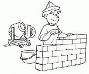 Free coloring and drawings Building trade Coloring page