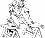 Free coloring and drawings Carpenter Coloring page
