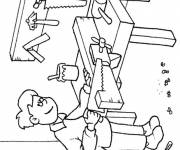 Free coloring and drawings Carpenter for children Coloring page