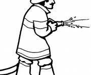 Free coloring and drawings Firefighter Coloring page