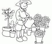 Free coloring and drawings Florist's profession Coloring page