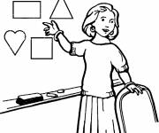 Free coloring and drawings Mistress occupation Coloring page