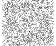 Coloring pages Adult Difficult to cut