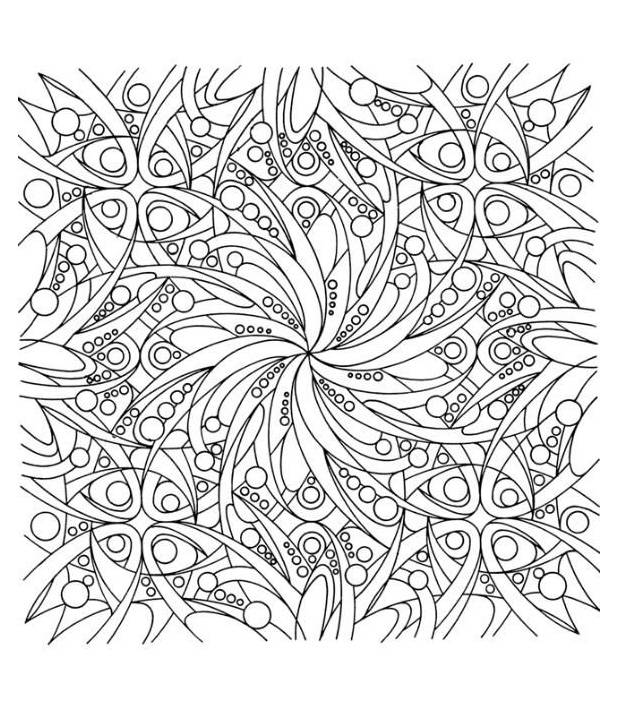 Free coloring and drawings Adult Difficult to cut Coloring page