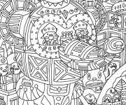 Free coloring and drawings Adult Maternal Christmas Coloring page