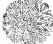 Free coloring and drawings Adult Nature Coloring page