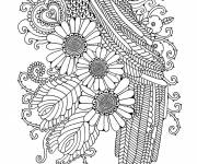 Free coloring and drawings Art Therapy Coloring page