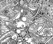 Free coloring and drawings Christmas Adult in black Coloring page