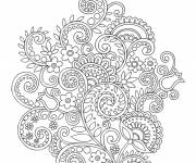 Free coloring and drawings Creatively drawn flowers Coloring page