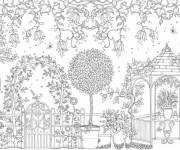 Free coloring and drawings European Adult Garden Coloring page
