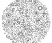 Free coloring and drawings Psychedelic Spring Flowers Coloring page