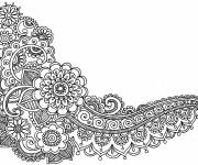 Coloring pages Adult Leaves & Flowers