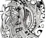 Coloring pages Artistic tattoo