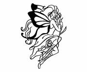 Coloring pages Butterfly Tattoos