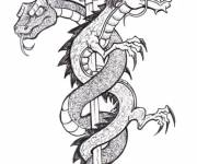 Coloring pages Dragon Tattoos