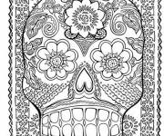 Coloring pages Psychedelic color