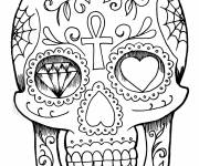 Coloring pages Skull Tattoos