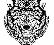 Coloring pages Wolf Tattoos