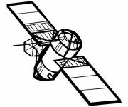 Coloring pages A satellite in black and white