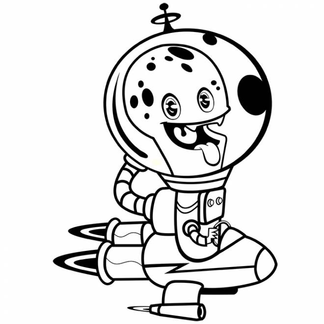 Free coloring and drawings Alien that makes you laugh Coloring page