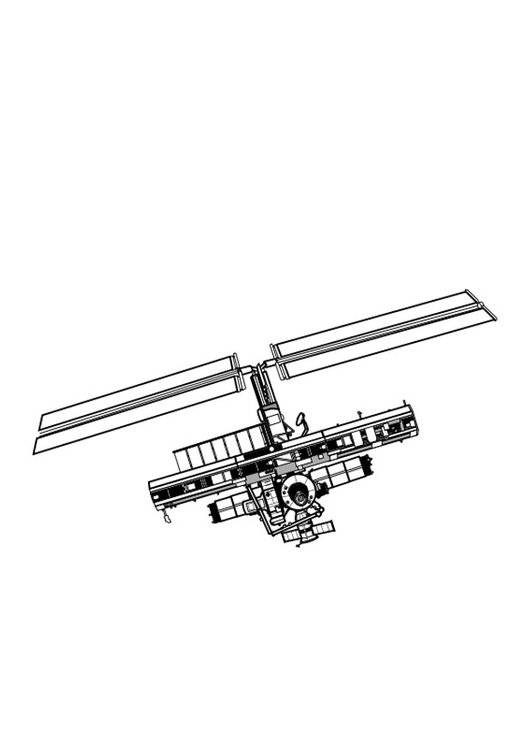 Free coloring and drawings An Online Satellite Coloring page