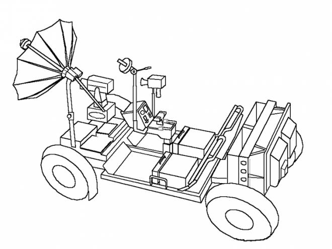 Free coloring and drawings Car UFOs Coloring page
