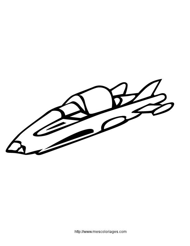 Free coloring and drawings Colored flying saucer Coloring page