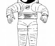 Coloring pages Equipment of an Astronaut