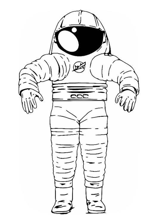 Free coloring and drawings Equipment of an Astronaut Coloring page