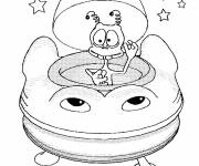 Coloring pages Extraterrestrial in The UFO