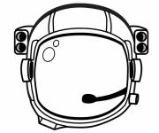 Coloring pages Helmet of an Astronaut