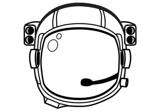 Free coloring and drawings Helmet of an Astronaut Coloring page