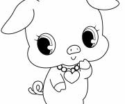 Coloring pages Jewelpet Kawaii