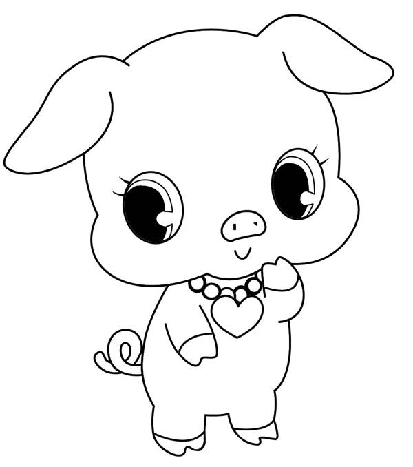 Free coloring and drawings Jewelpet Kawaii Coloring page