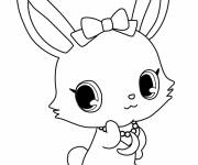 Coloring pages Kilari Jewelpet in color
